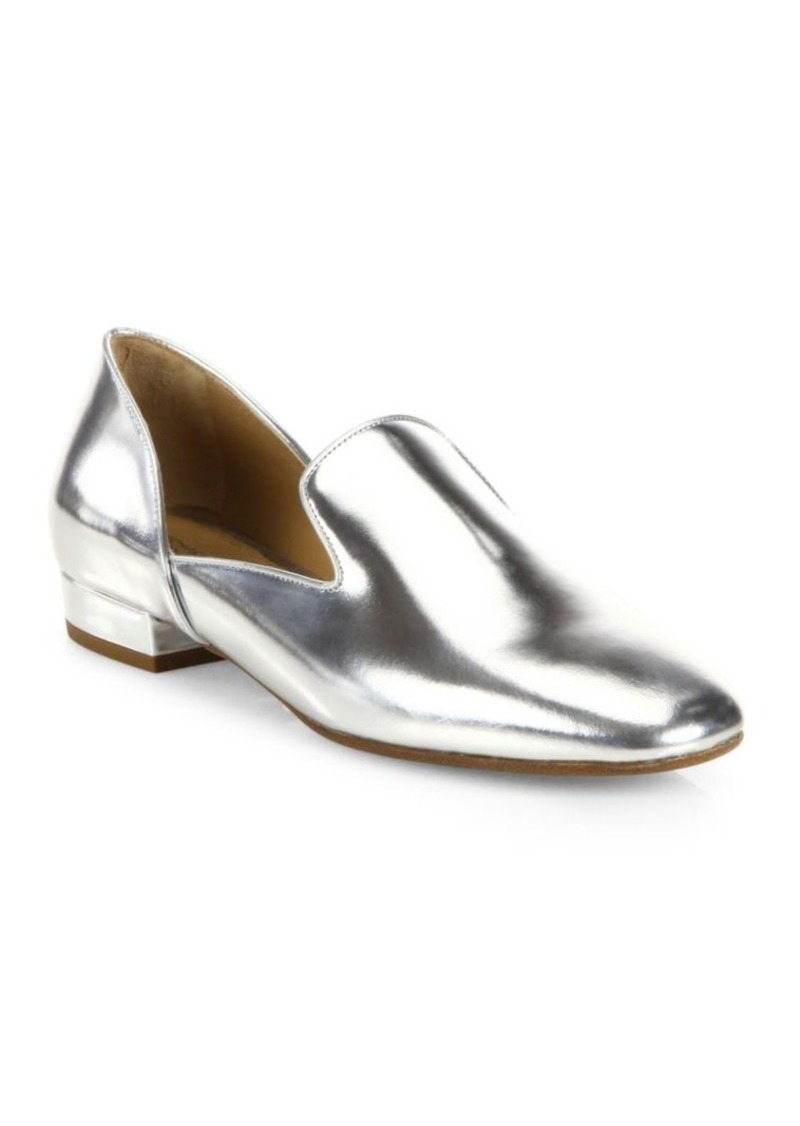 Michael Kors Collection Fielding Metallic Leather Loafers