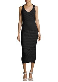Michael Kors Collection Fish Scale Jacquard Midi Dress