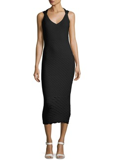 Michael Kors Collection Fish Scale Jacquard Midi Dress