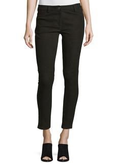 Michael Kors Collection Five-Pocket Skinny-Leg Leather Jeans