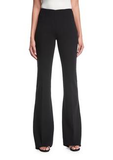 Michael Kors Flare-Leg Pebble Crepe Trousers
