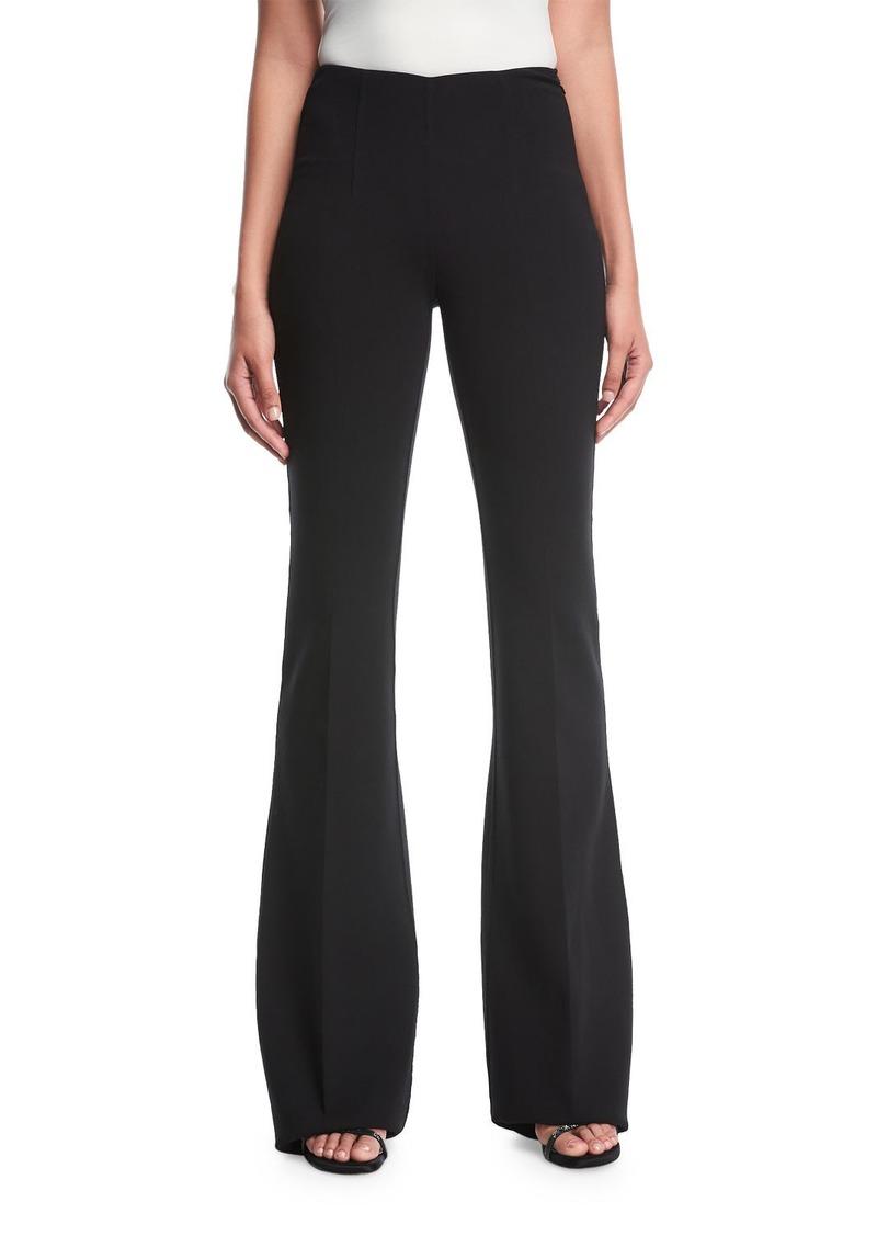 4b7e63013c377e Michael Kors Flare-Leg Pebble Crepe Trousers | Casual Pants