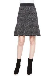 Michael Kors Flirt-Hem Tweed Skirt