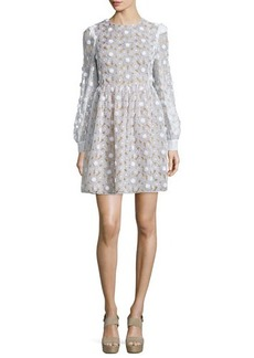 Michael Kors Floral Lace Fit-&-Flare Dress