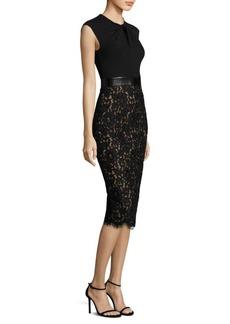 Michael Kors Collection Floral Lace Sheath Dress