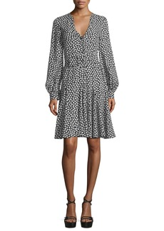 Michael Kors Collection Floral-Print Georgette Dress