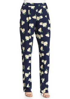 Michael Kors Floral-Print Pajama-Style Pants