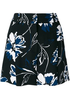 Michael Kors Collection floral print shorts - Black