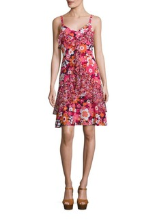 Michael Kors Collection Floral Silk Dress