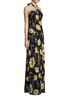 Michael Kors Floral Silk Gown