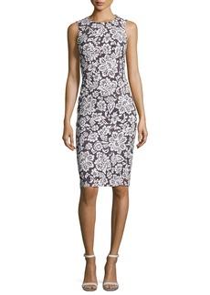 Michael Kors Collection Floral Sleeveless Sheath Dress