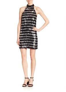 Michael Kors Collection Fringe Silk Halter Dress