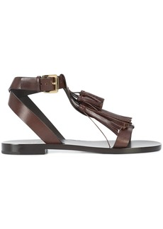 Michael Kors Collection fringed sandals - Brown