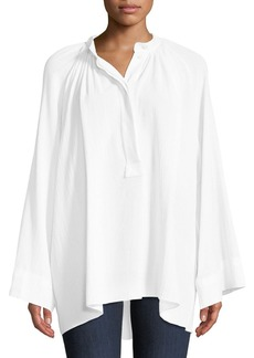 Michael Kors Collection Full-Sleeve Cotton Poet Blouse