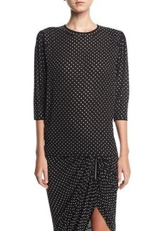 Michael Kors Collection Georgette Blouse with Grommets
