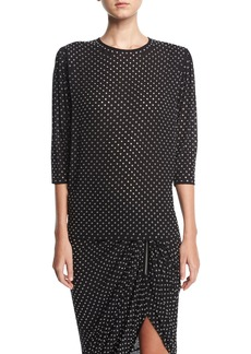 Michael Kors Georgette Blouse with Grommets