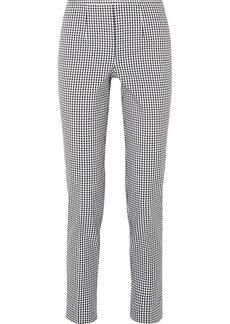 Michael Kors Gingham Cotton-blend Straight-leg Pants