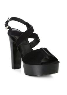 Michael Kors Collection Gramercy Suede Platform Sandals