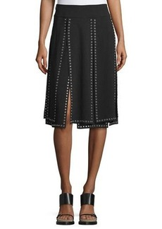 Michael Kors Collection Grommet-Embellished Carwash Skirt