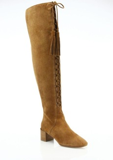 Michael Kors Collection Harris Lace-Up Suede Over-The-Knee Boots