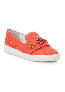 Michael Kors Henna Jeweled Jacquard Skate Sneakers