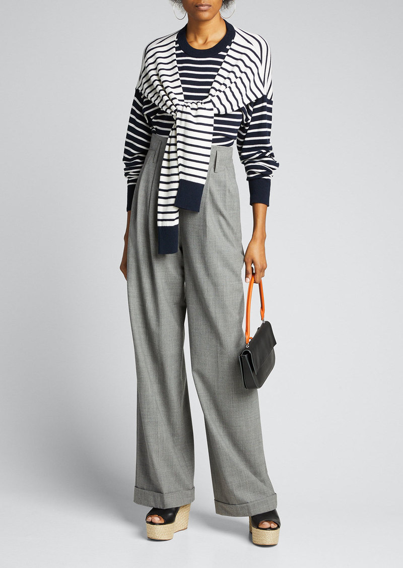 Michael Kors Collection High-Waist Pleated Pants