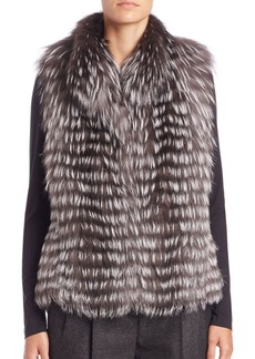 Michael Kors Horizontal Fox Fur Vest