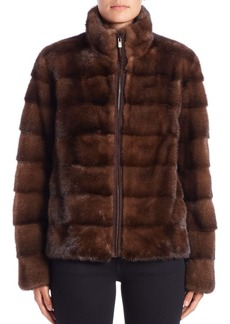Michael Kors Collection Horizontal Mink Fur Jacket