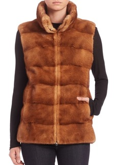 Michael Kors Collection Horizontal Mink Fur Vest