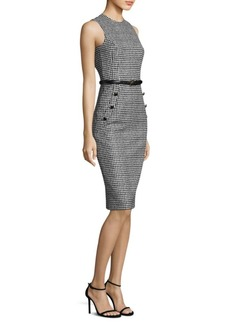 Michael Kors Collection Houndstooth Wool Sheath Dress