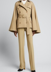 Michael Kors Collection Kate Wool Cuffed Trousers