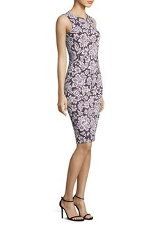 Michael Kors Collection Lace Crewneck Sheath Dress
