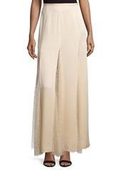 Michael Kors Lace-Inset Godet Maxi Skirt