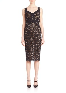 Michael Kors Collection Lace Sheath Dress