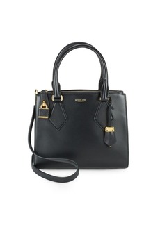 Michael Kors Collection Leather Open-Top Satchel