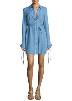Michael Kors Collection Long-Sleeve Button-Front Shirtdress