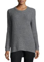 Michael Kors Long-Sleeve Split-Hem Sweater