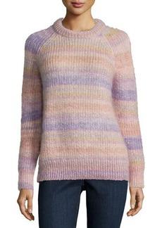 Michael Kors Long-Sleeve Striped Shaker Sweater