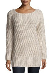 Michael Kors Long-Sleeve Textured Sweater