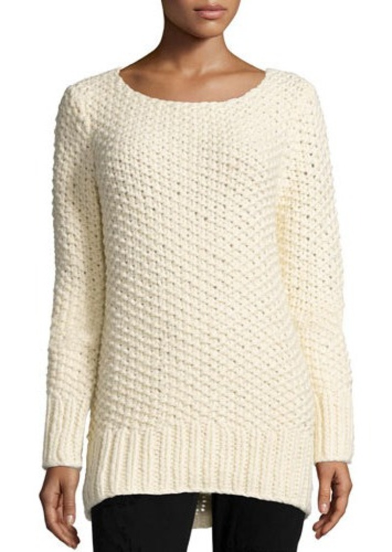Michael Kors Collection Long-Sleeve Textured Sweater