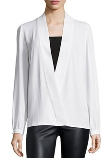 Michael Kors Long-Sleeve Wrap Blouse