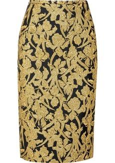 Michael Kors Metallic jacquard skirt