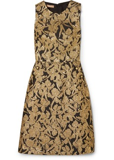 Michael Kors Metallic Jacquard Dress