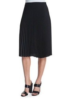 Michael Kors Collection Micro-Pleated A-Line Skirt