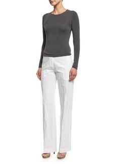 Michael Kors Mid-Rise Flare-Leg Trousers