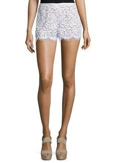 Michael Kors Collection Mid-Rise Lace Mini Shorts