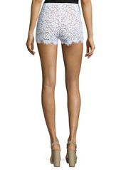 Michael Kors Mid-Rise Lace Mini Shorts