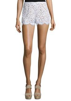 Michael Kors Mid-Rise Lace Mini Shorts