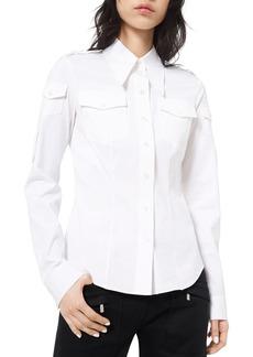 Michael Kors Collection Military-Style Poplin Shirt