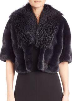 Michael Kors Collection Mink & Fox Fur Jacket